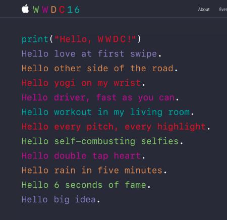 WWDC screenshot