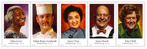 Celebrity Chef Stamp